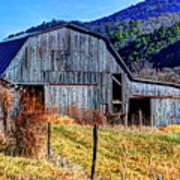 Old Barn In West Virginia Mountains 4836 Fusedt Art Print