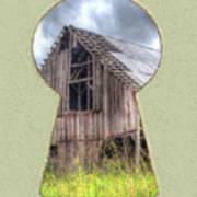 Old Barn Keyhole Art Print