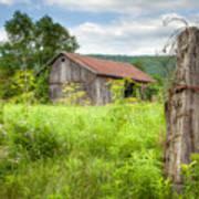 Old Barn Near Stryker Rd. Rustic Landscape Art Print