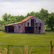 Old Barn  Poetry Tx Art Print