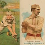 Old Baseball Cards Collage Art Print by Don Struke