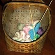 Old Basket New Yarn Art Print