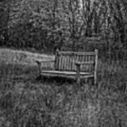 Old Bench Concord Massachusetts Art Print