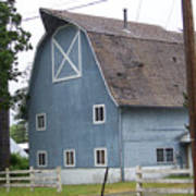 Old Blue Barn Littlerock Washington Art Print