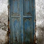 Old Blue Door Art Print by Shane Rees