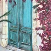 Old Blue Doors Art Print