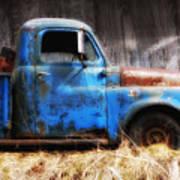 Old Blue Truck Art Print