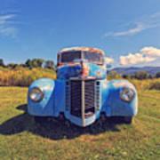 Old Blue Truck Vermont Art Print