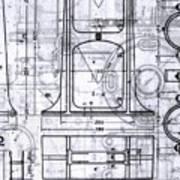 Old Blueprints Art Print