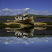 Old Boat Reflection Art Print
