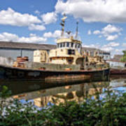 Old Boats Along The Exeter Canal 2 Art Print