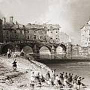 Old Boats Bridge, Limerick, Ireland Art Print