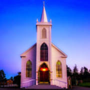 Old Bodega Church Sunset Art Print