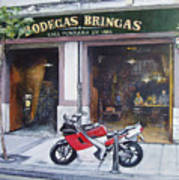 Old bodegas Bringas Art Print