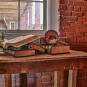 Old Books In Old Classroom Art Print
