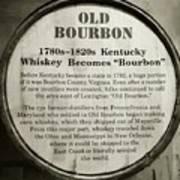 Old Bourbon Art Print