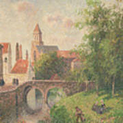 Old Bridge In Bruges  Art Print by Camille Pissarro