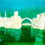 Old Bridge In Mostar Art Print