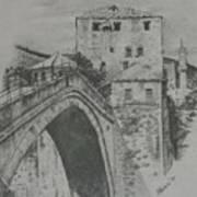 Old Bridge -mostar Art Print