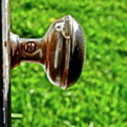 Old Brown Doorknob Art Print