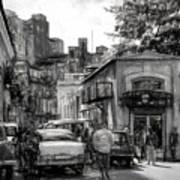 Old Buildings And Cars In Havana - V2 Art Print