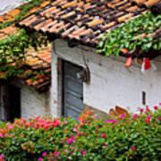 Old Buildings In Puerto Vallarta Mexico Art Print