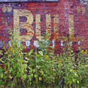 Old Bull Durham Sign - Delta Art Print