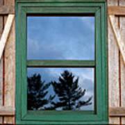 Old Cabin Window Art Print
