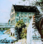 Old Cambridge Mill Art Print