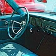 Old Car Interior Art Print