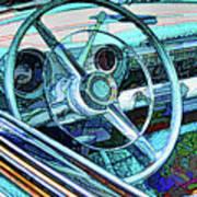 Old Car Wheel Art Print