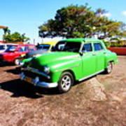 Old Cars Cuba Art Print