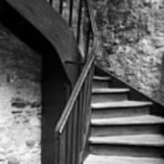 Old Castle Stairway Art Print