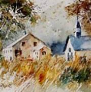 Old Chapel In Herhet Art Print