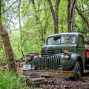 Old Chevy Oil Truck 1  Art Print