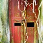 Old Chinese Village Door Eleven Art Print