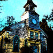 Old Church At Oxford Maryland Art Print