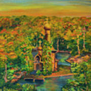 Old Church On The River Art Print