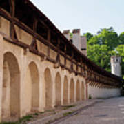 Old City Wall In St Alban Basel Switzerland Art Print
