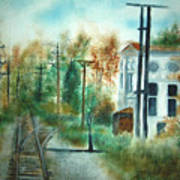 Old Cn Station Fort Langley Bc Art Print
