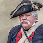 Old Colonial Soldier Portrait Art Print