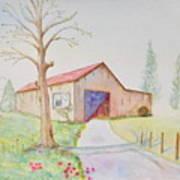 Old Country Barn Art Print
