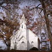 Old Country Church In Alabama Art Print