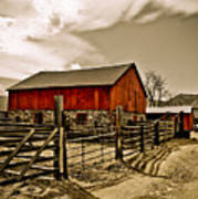 Old Country Farm Art Print