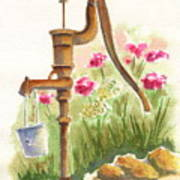 Old Country Pump Art Print