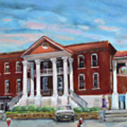 Old Courthouse In Ellijay Ga - Gilmer County Courthouse Art Print