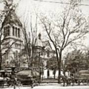 Old Courthouse Public Square Wilkes Barre Pa Late 1800s Art Print
