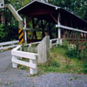 Old Covered Bridge In Pennsylvania  Art Print
