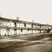 Old Cuartel. Mexican Soldiers Barracks Monterey Circa 1885 Art Print