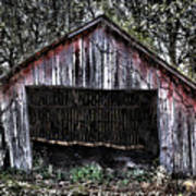 Old Dave's Front Barn Art Print